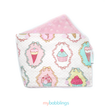 Stroller Bumper Protector-Stroller Protectors-My Babblings™-Dreamy Cupcakes with light link Minky-My Babblings™