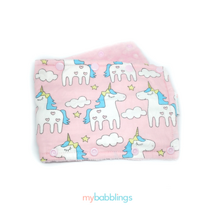 Stroller Bumper Protector-Stroller Protectors-My Babblings™-Magical Unicorn with light pink Minky-My Babblings™