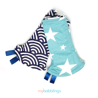 LIMITED TIME! Double Prints Reversible Curved Droolpads