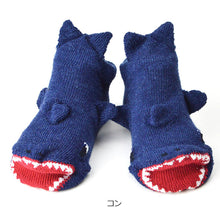 ポプキンズ 3D Pop Up Socks (Made in Japan)-Baby Socks-My Babblings-Navy Shark-My Babblings™