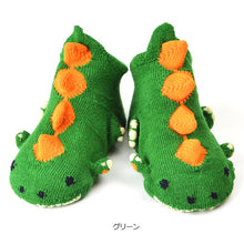 ポプキンズ 3D Pop Up Socks (Made in Japan)-Baby Socks-My Babblings-Green Dinosaur-My Babblings™