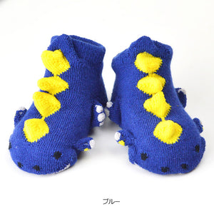 ポプキンズ 3D Pop Up Socks (Made in Japan)-Baby Socks-My Babblings-Blue Dinosaur-My Babblings™
