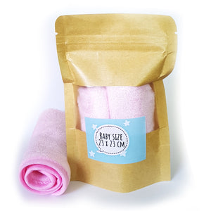 Essential My Babblings Bamboo Cotton Washcloth (Single)-Wash Cloth-My Babblings-Powder pink-Baby size (23x23cm)-My Babblings™