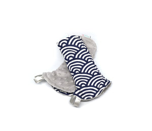 Oceanic Waves Reversible Curved Droolpads and Bib Set