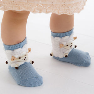 ポプキンズ 3D Pop Up Socks (Made in Japan)-Baby Socks-My Babblings-Blue sheep-My Babblings™