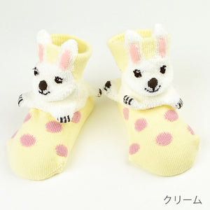 ポプキンズ 3D Pop Up Socks (Made in Japan)-Baby Socks-My Babblings-Cream Rabbit-My Babblings™