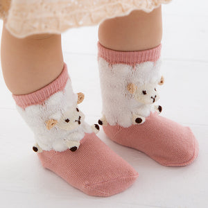ポプキンズ 3D Pop Up Socks (Made in Japan)-Baby Socks-My Babblings-Pink Sheep-My Babblings™