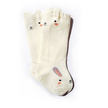 Animal Knee High Socks with Ears-Baby Socks-My Babblings-Baby Size-Jumping Bunny (Cream)-My Babblings™