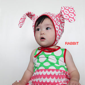 Alohaloha Baby Animal Cap with Ears-Baby Apparel-My Babblings-Bear Cap-My Babblings™