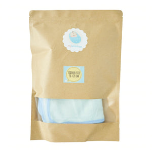 Essential My Babblings Bamboo Cotton Washcloth (Bundle set)-Wash Cloth-My Babblings-Sky blue-Toddler size (6 pieces)-My Babblings™