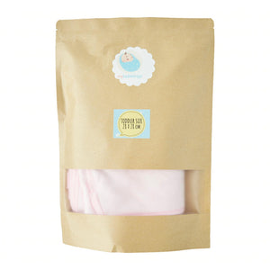 Essential My Babblings Bamboo Cotton Washcloth (Bundle set)-Wash Cloth-My Babblings-Powder pink-Toddler size (6 pieces)-My Babblings™