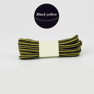 1Pair Striped Double Color Shoe laces