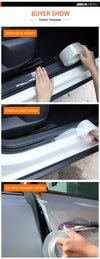 CAR DOOR SILL STICKER PROTECTOR