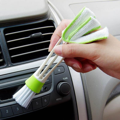Double Ended Car Air Vent Slit Cleaner Brush