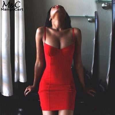 Sexy Red Mini Dress