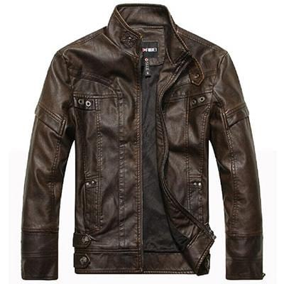Faux- Leather Jackets for Men