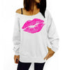 Hot Lips Loose Fit Sweatshirt for Women