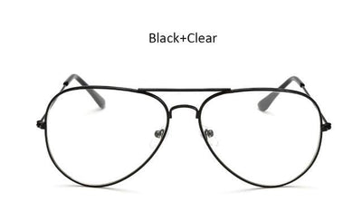 Women Aviation Clear Glasses Frame