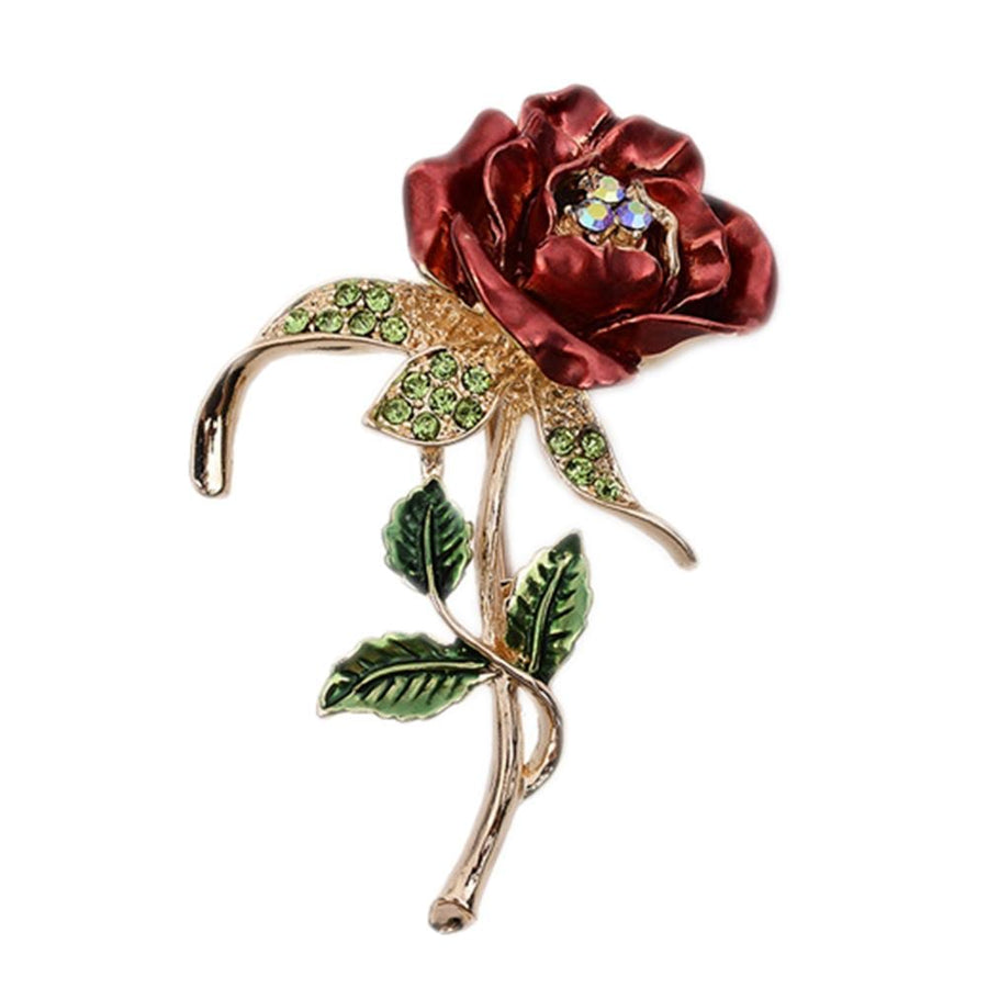 1 PCS Red  Rose Flower Brooch Garment Jewelry