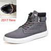 New High Top Canvas Casual Leather Footwear For Men