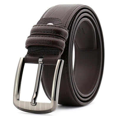 Men Leather Belt Luxury Cowskin  Pin Buckle For Jeans