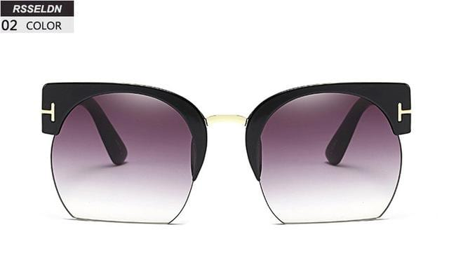New Semi-Rimless Sunglasses for Women