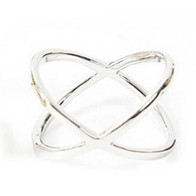 Women Finger X Cross Three-dimensional Hollow Out Ring