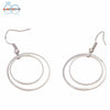 Minimalist Personality Double Circle Earrings