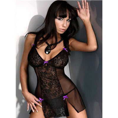 Hot Erotic Black Lace Mesh Sexy Lingerie for Women
