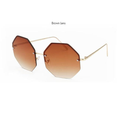 Stylish Oversize Square Rimless Sunglasses for Women