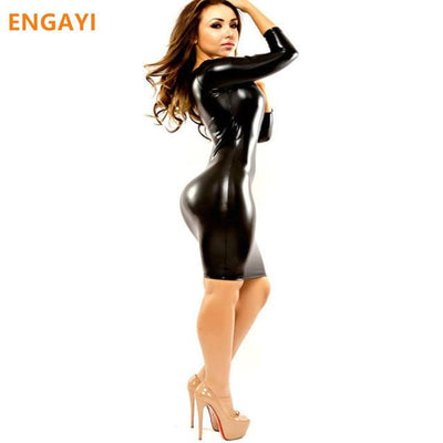 Latex Dress (Black) for Women