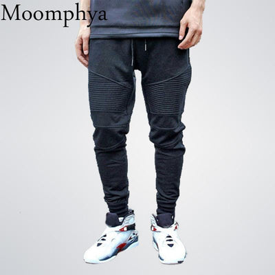 Pleated Sweatpants- Casual Cotton Joggers for Men