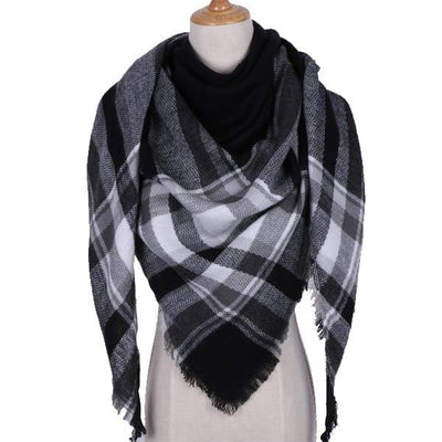 Women Brand Designer Shawl Cashmere Plaid Scarves