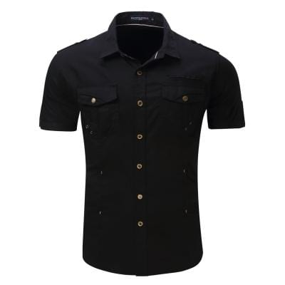 Casual Cargo Short Sleeve Men Shirts