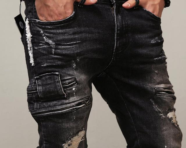 Destroyed Denim Jeans for Men
