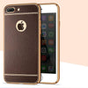 Litchi Grain Plating Phone Case For iphone 7 5S 5 6 6S 7 8 Plus