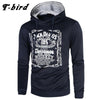 T-bird Hoodie Men Letter 3D print Cotton pullover