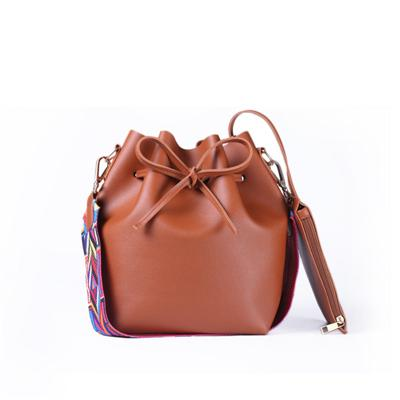 Colorful Strap Bucket Bag