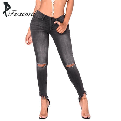 Women washed Skinny Jeans