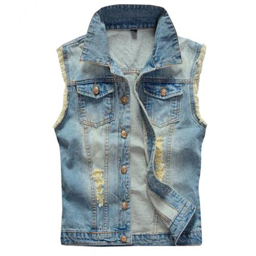 Blue Jean Denim Vest for Men