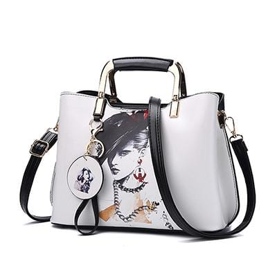Women Fashion Painted  Flower Pattern Style Shoulder Bags