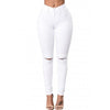 White Women's Skinny Ripped Jeans