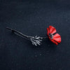 New Arrival!  3 Color Flower Red Poppy Brooch