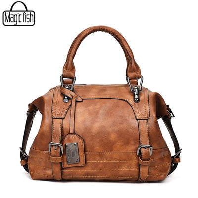Genuine Leather Medium Shoulder Bags For Women