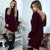 Short Casual Sweater Dress for Women