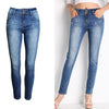 Women Skinny Denim Blue Jeans