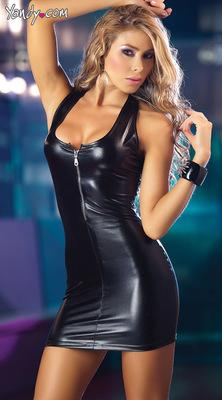 Sexy Leather Latex Catsuit (Club wear)