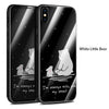 Luxury Glass Case For iPhone X Case Cute With Glass Back Cover For iPhone 6 6s 7 8 Plus Case Cover