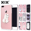 Cute Cats Soft Cover iPhone 6 case 5 5S 6S 7 8 Plus X