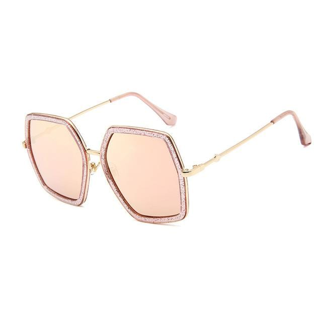 Stylish Oversized Ladies Square Sunglasses